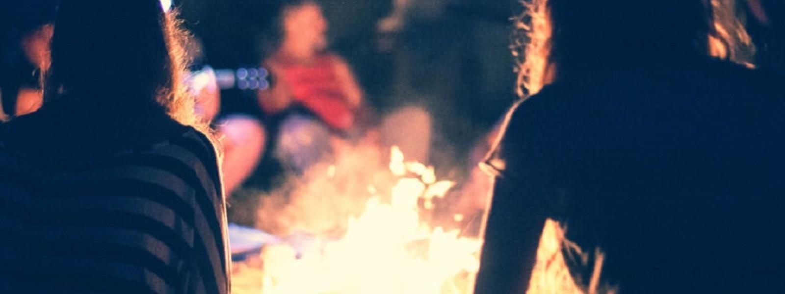 teens campfire