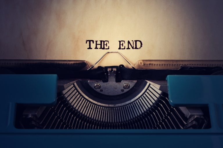 Old typewriter the end