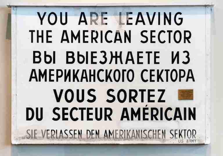 A multi-lingual sign